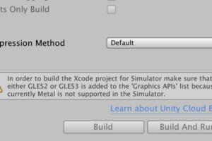 Simulatorビルドでeither GLES2 or GLES3 is added...と言われた場合の解決方法