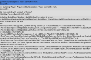 ArgumentNullException: Value cannot be null. Parameter name: path1というAndroidビルドエラー
